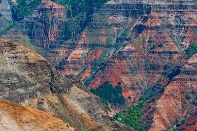 Looking out over the Waimea Canyon which is like a mini Grand Canyon