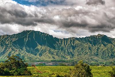 Scenery along the road from Lihue toward Waimea