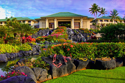 Grand Hyatt Hotel located on Shipwreck Beach in Poipu