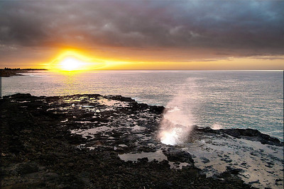 Each morning we walk to Spouting Horn which is a bit over a mile each way;