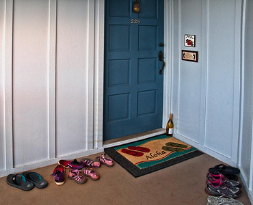 Custom in Hawaii is to remove shoes before entering a home.