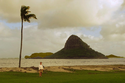 Chinaman's Hat in the distance