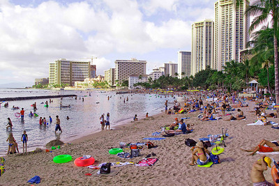 Christmas Day - Waikiki Beach