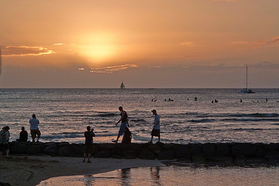 Sunset - Christmas Day - Waikiki