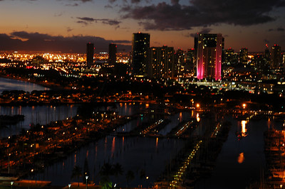 Honolulu at dusk