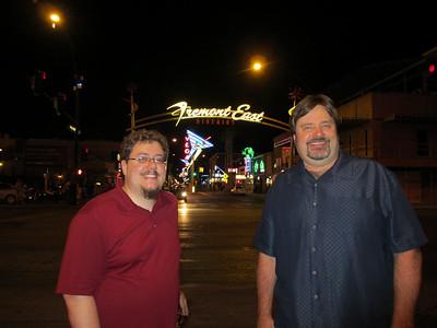 We hit old town Las Vegas after dinner...