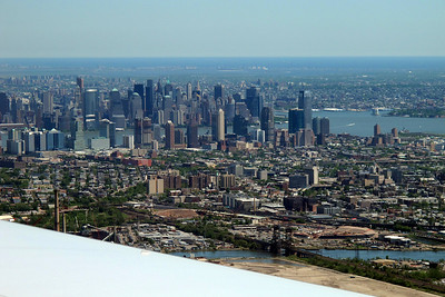 Changing plane in New York - nice view of Manhattan from the plane