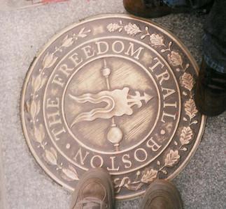 Boston Freedom Trail - start of the 4 mile walk through Boston