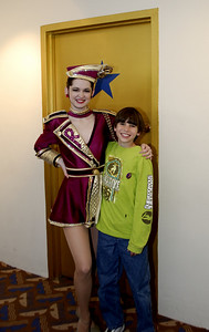 Alex with the Rockettes at Radio City Music Hall
