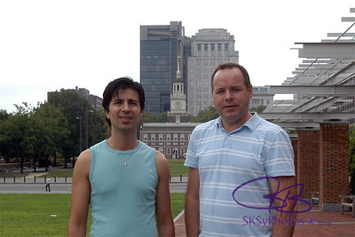 Tony & I in front of Independence Hall