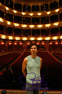 Tony onstage at the Academy of Music in Philadelphia.  Former home of the Phil. Orchestra