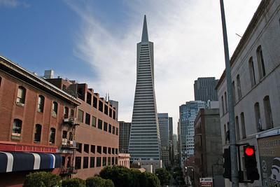 Feb. 18/08 - Transamerica Pyramid, taken during open-top bus tour, San Francisco