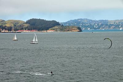 Crossing Golden Gate Bridge on bike