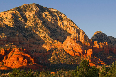View of Red Rocks from our hotel room in Sedona