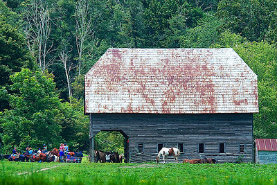 Old barn in Valle Crucis, NC