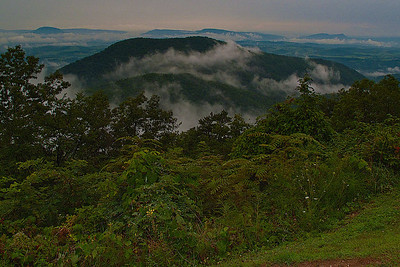 One of many vistas overlooking the Blue Ridge Mountains along the Blue Ridge Parkway in Virginia