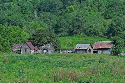 Abandoned farm in Southwest Virginia near Abingdon