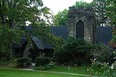 Several beautiful churches line the main street of Blowing Rock