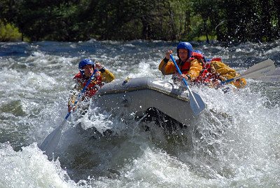 Rafting on Merced River