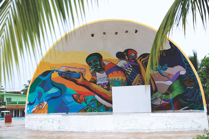 Amphitheater in the city center. Isla Holbox. June 2018
