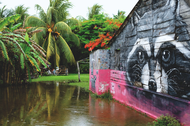 A five day storm flooded la Isla Holbox. June 2018.