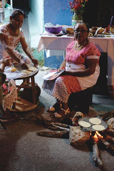 Making tortillas. October 2018