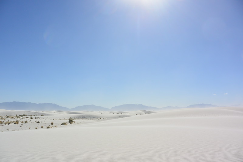 White Sands is the largest gypsum dune field on Earth. July 2016