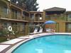 USA 2009 - Los Angeles - ontbijt aan het zwembad
