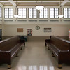 Kansas City, Amtrak waiting room (in the afternoon, when there's no train).