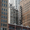 Good old buildings along in the Chicago Loop.