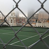 San Franciscan tennis court on a roof.