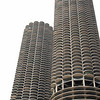 "The two ""corn-cob"" towers of Marina City, a ""City within a City"" built by Bertrand Goldberg. Second coolest building of Chicago."