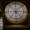 Stained glass skylight over the west wing's double staircase. The skylights were covered during World War II as a defense measure, but have now been or are being renovated.
