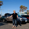 Venice Beach. And our Buick. A fine car indeed! Rides smoothly, seats 8 passenges, beats Audi Q7 in leg room and cargo space, and is really quiet. We loved him at the end of the trip. For us, the US car makers are back.
