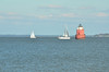 At Sandy Point State Park, north of the Annapolis Bay Bridge, Maryland<br />Sandy Point Shoal Light