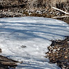 Where else but Boulder would you find an abandoned flip-flop on an icy stream?