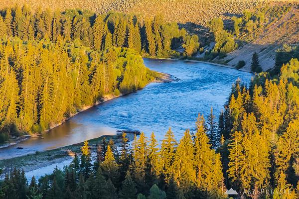 Snake River after sunrise, Grand Teton NP