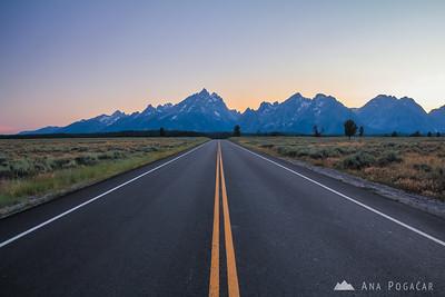 Driving to Jenny Lake, Grand Teton NP