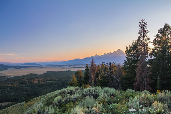 Views from the Signal Mt., Grand Teton NP, at sunset