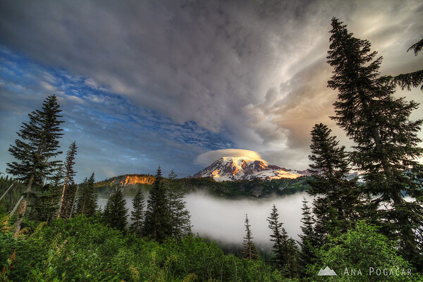 Mt. Rainier after sunrise