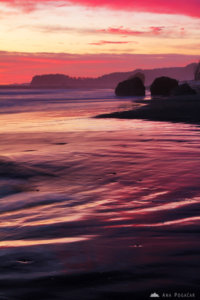 Ruby Beach after sunset
