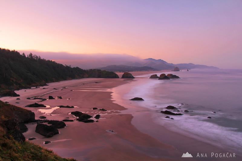 Cannon Beach before sunrise