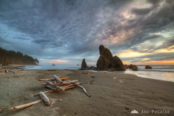 Ruby Beach before sunset