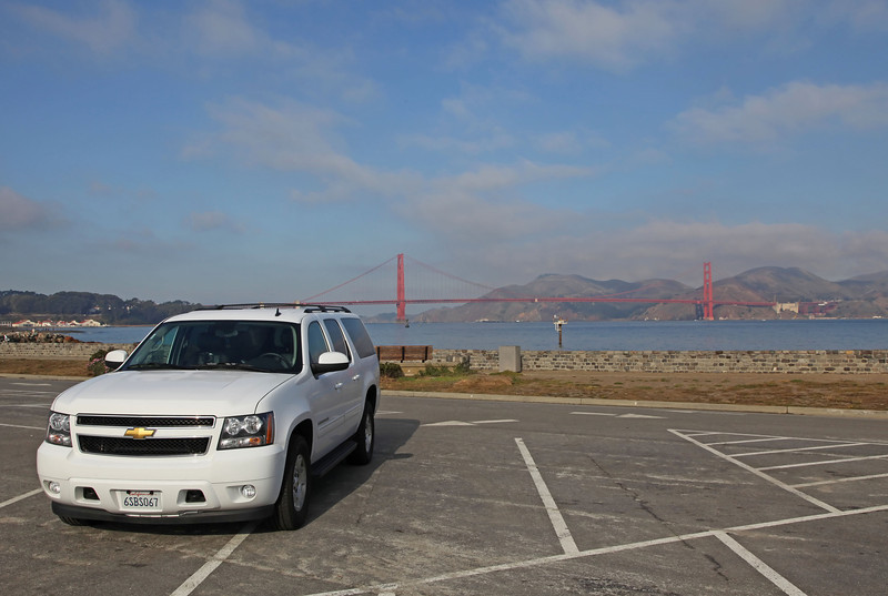 USA 2011 - San Francisco - Golden Gate Bridge<br /> Onze Chevrolet Suburban