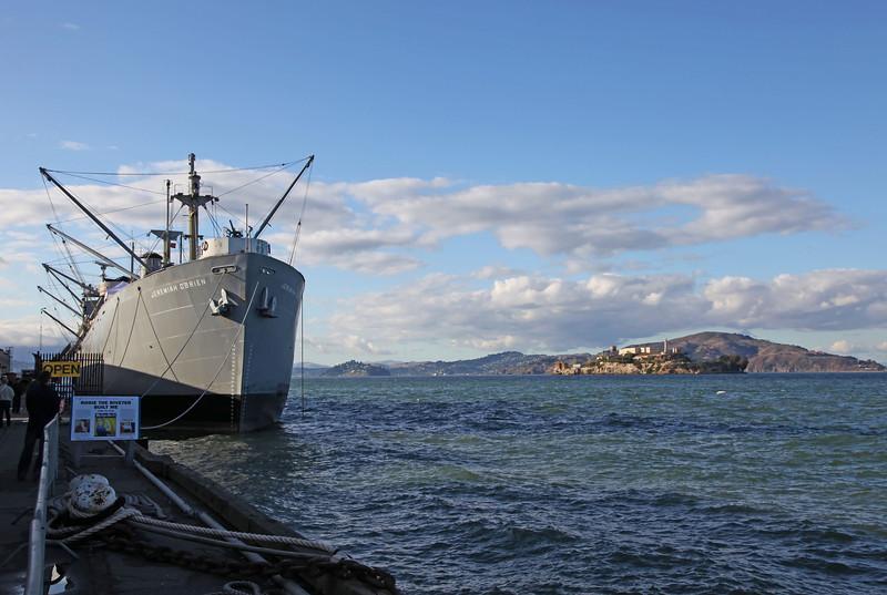 "USA 2011 - San Francisco - Alcatraz<br /> Liberty ship ""Jeremiah O'Brien"""