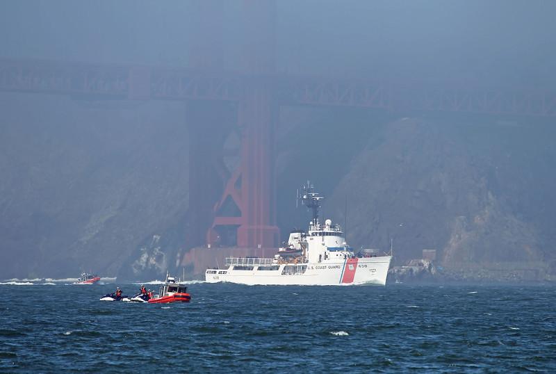 USA 2011 - San Francisco Fleet Week - Ship Parade<br /> Golden Gate Bridge - US Coast Guard