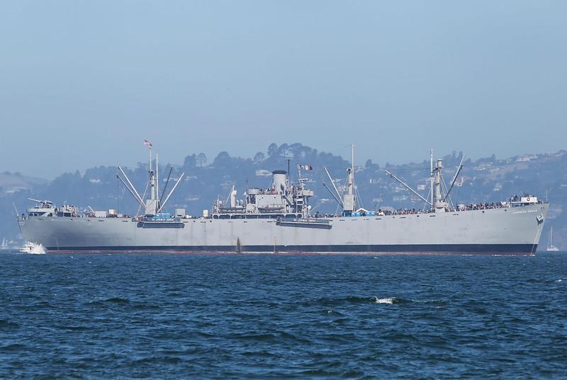 USA 2011 - San Francisco Fleet Week - Ship Parade<br /> Liberty Ship, SS Jeremiah O'Brien