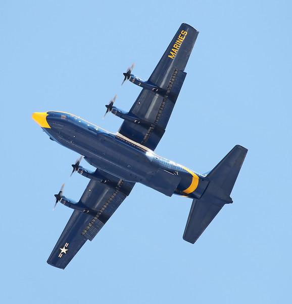 "USA 2011 - MCAS Miramar Air Show - US Navy Blue Angels ""Fat Albert""<br /> In support of US Army Golden Knights Parachute Team"