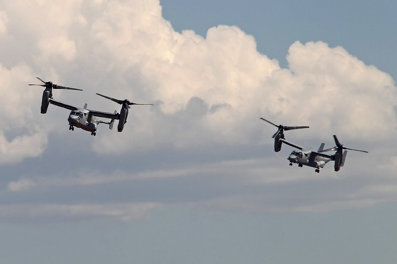 USA 2011 - MCAS Miramar Air Show - Marine Air-Ground Task Force Demo (MAGTF)<br /> MV-22A Osprey