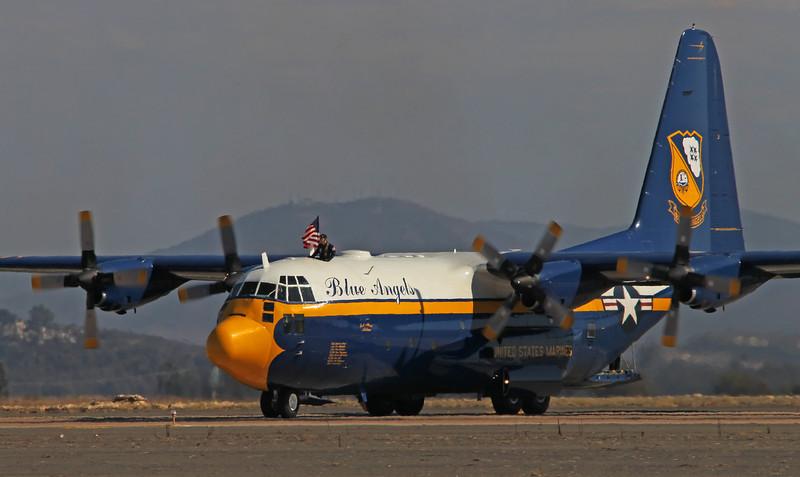 """USA 2011 - MCAS Miramar Air Show - US Navy Blue Angels """"Fat Albert""""<br /> C-130T Hercules"""